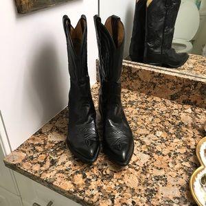 Tony Lama Black boots-EUC